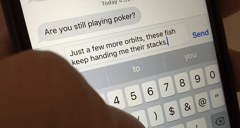 Poker Player Text