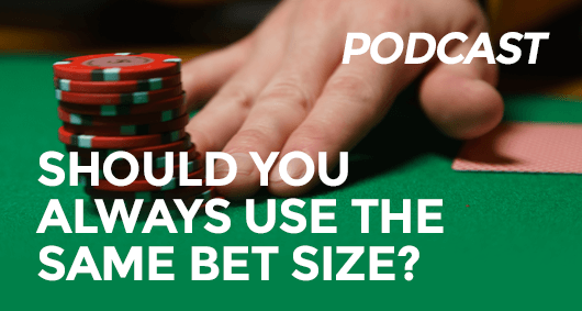 poker bet size
